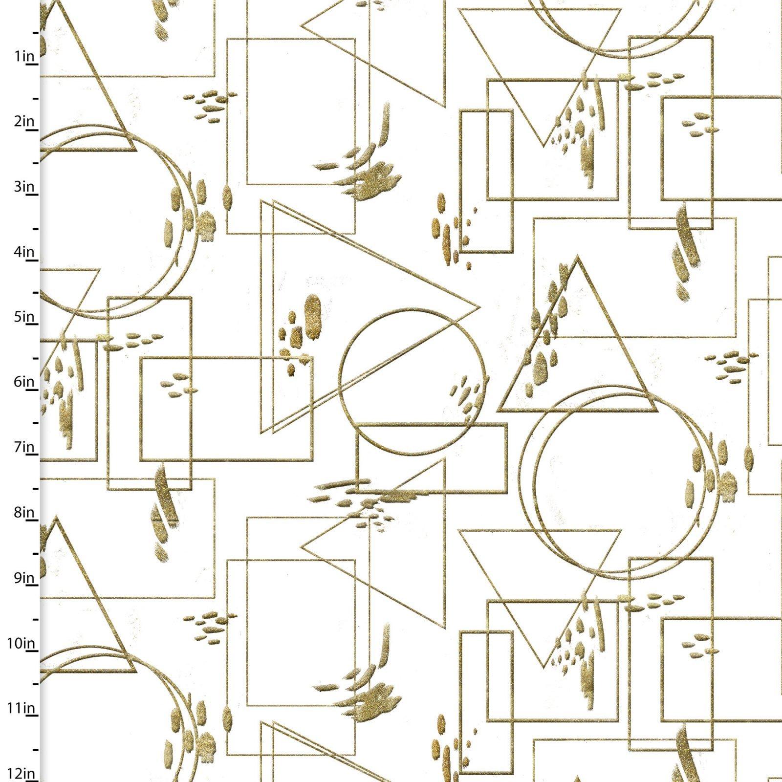 Metallic Fusion Gold Geometric Outlines