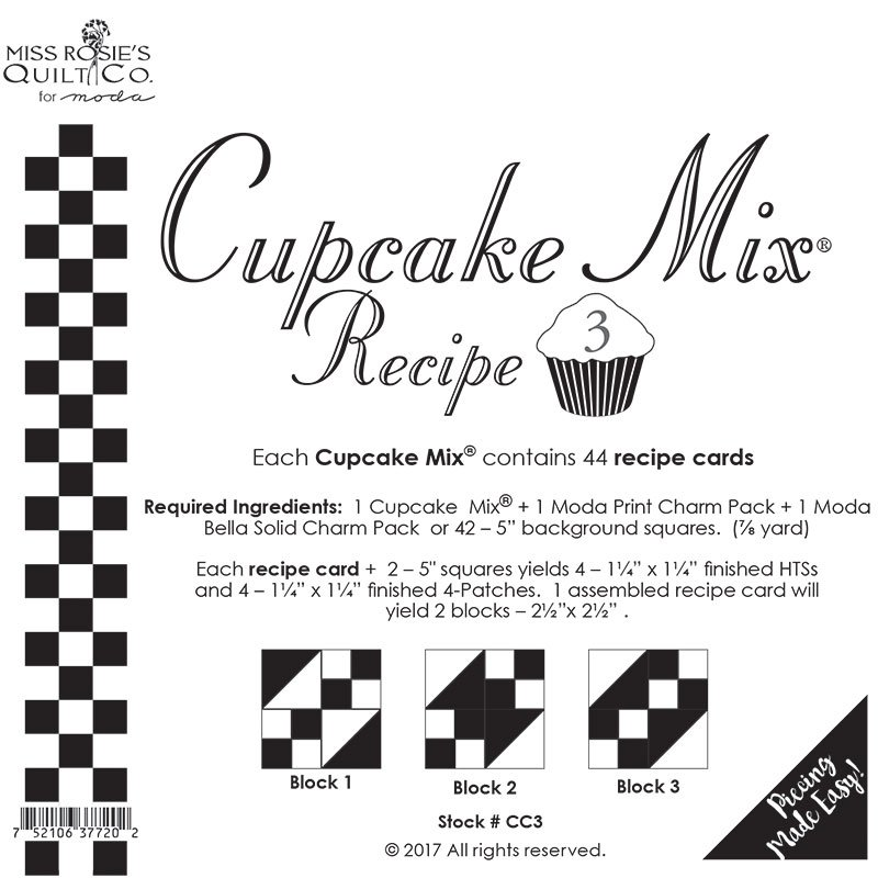 Cupcake Recipe 3 44ct