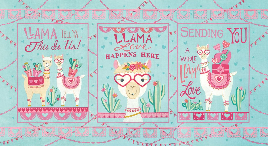 Llama Love Panel (pre-cut)