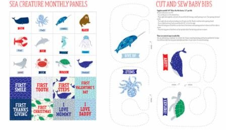 Ahoy  Sea Creature Panel- Pre-cut