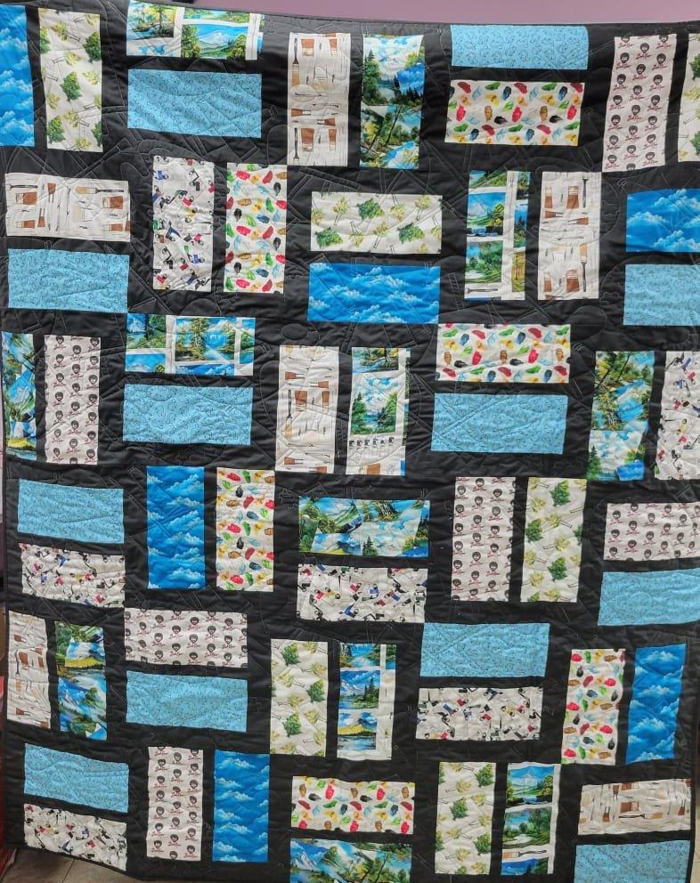 Bob Ross Lickety Split Quilt Kit