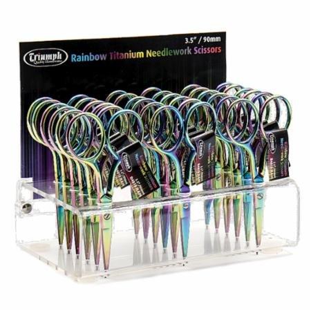 Rainbow Titanium  Embroidery Scissors
