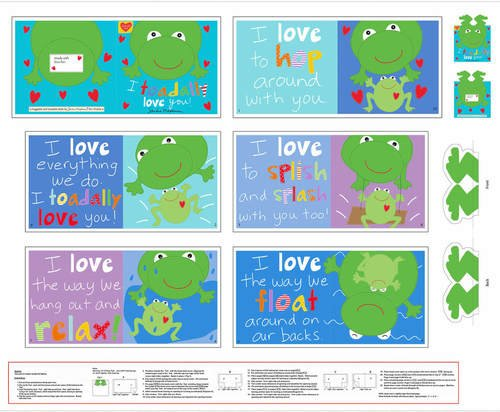 Toadally Love You Soft Book Panel