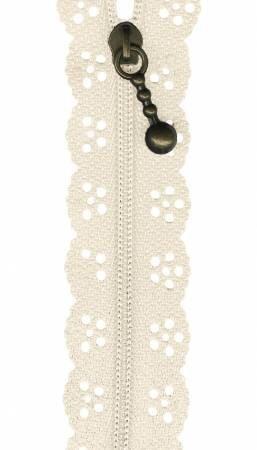 The Little Lacie Zipper 8 Ivory