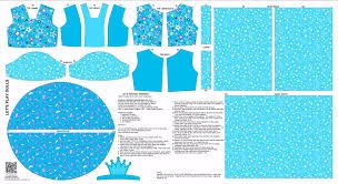 Doll Princess Outfit Panel Blue