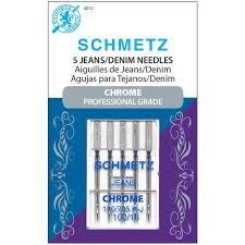 Schmetz Chrome Denim Needle 100/16