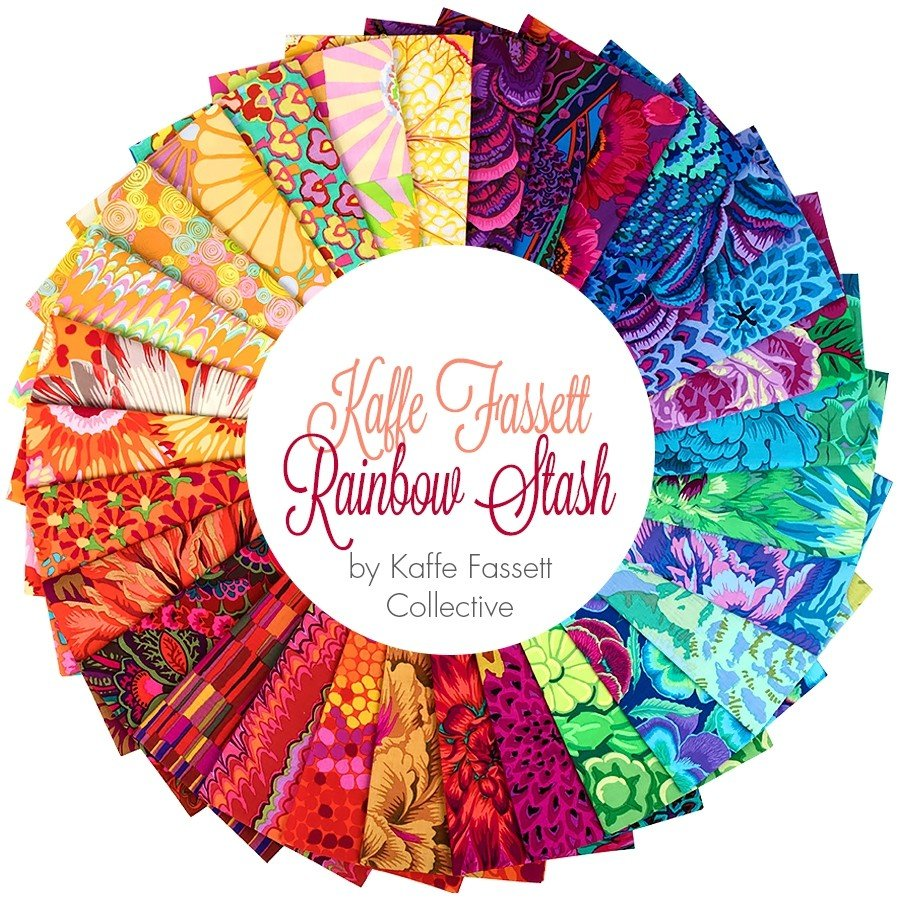 Kaffe Fassett Collective Rainbow Stash 2019 Fat 1/4 bundle