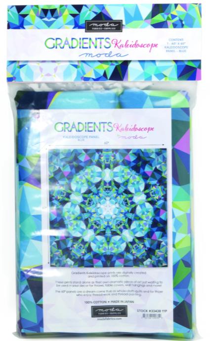 Gradients Kaleidoscope Panel Blue