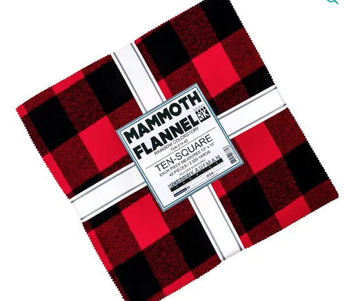 Mammoth Flannel Ten Square- Rainbow Colorstory