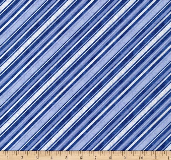 Snow What Fun Diagonal Stripe Blue