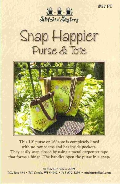 Snap Happier Purse & Tote Pattern