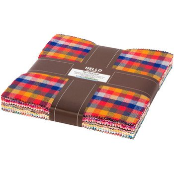 Mammoth Junior Flannel Ten-Square Warm Colors