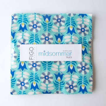 Blue Midsommar 10 Squares by Pippa Shaw