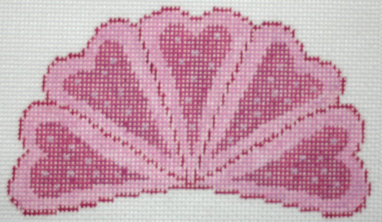 F3643 - Pink Heart Fan