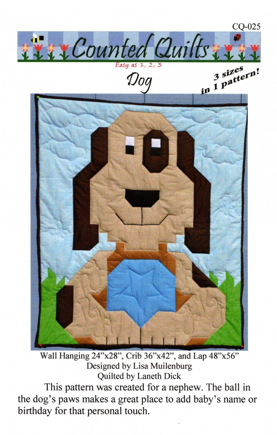 Dog by Counted Quilts