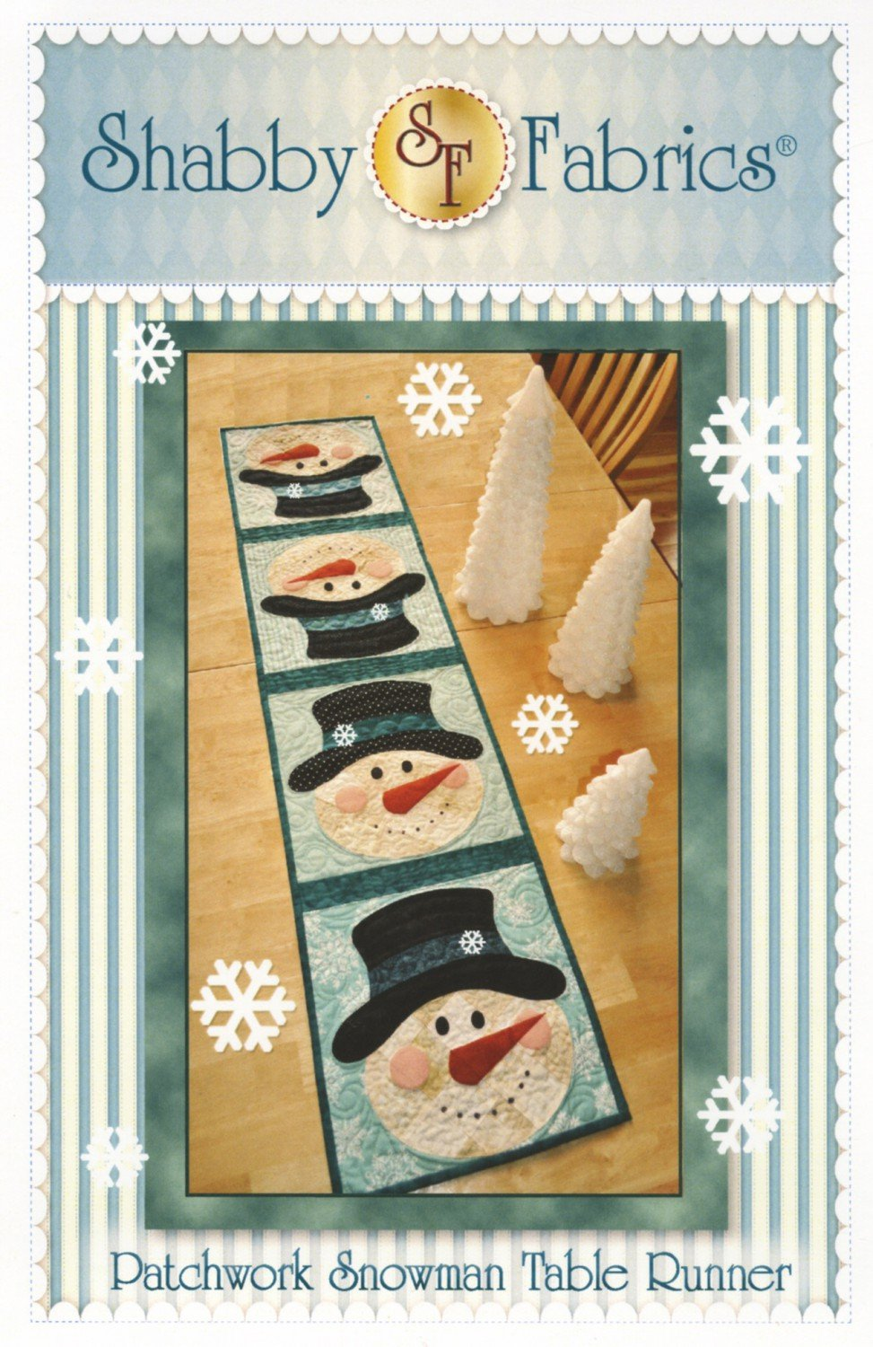 Patchwork Snowman Table Runner by Shappy Fabrics