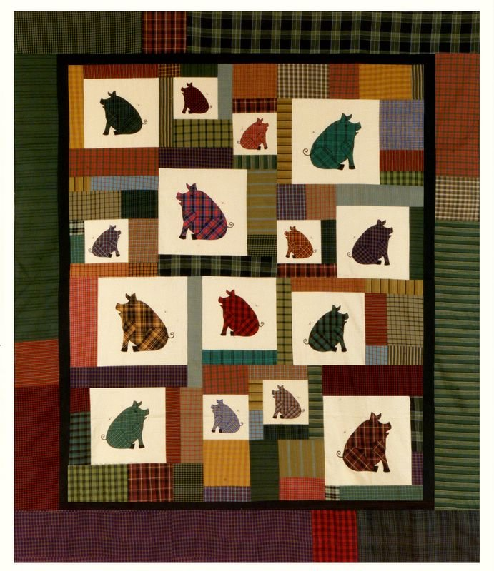 Plaid Pigs by With Needle and Thread