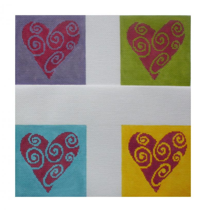 DH3664 - Hearts A Flutter Coasters