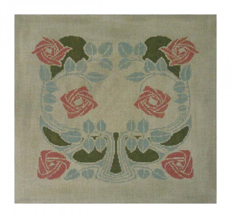 DH3667 - Dard Hunter Rose Pillow