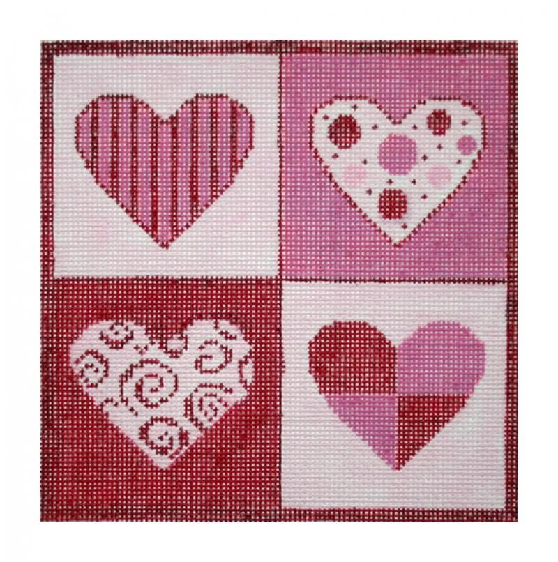 F3637 - Patchwork Hearts