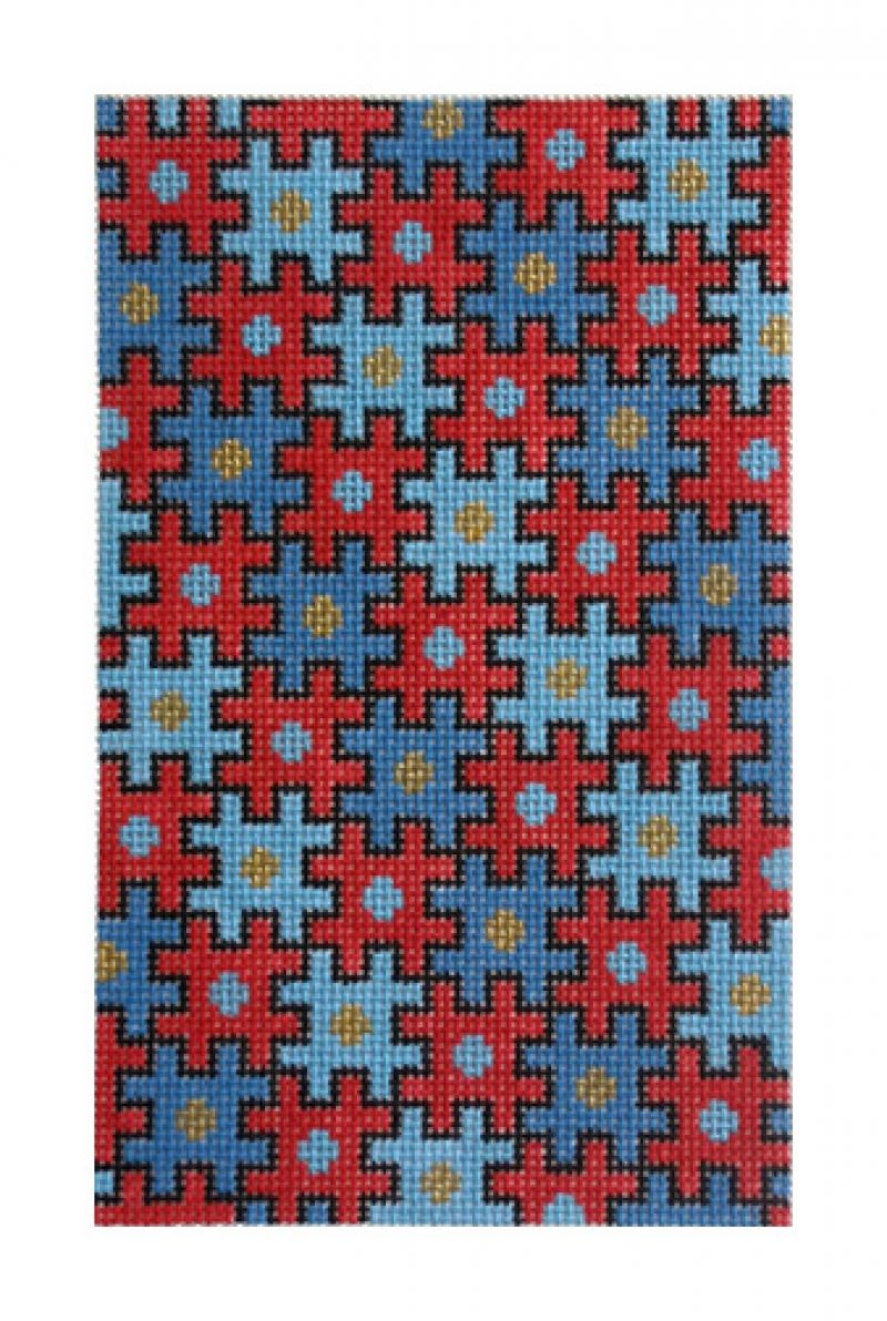 F3656 - Puzzle Bag, Red & Blue