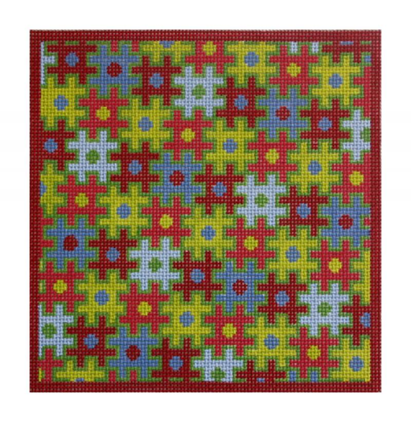 F3658 - Puzzle Folio, Red & Green