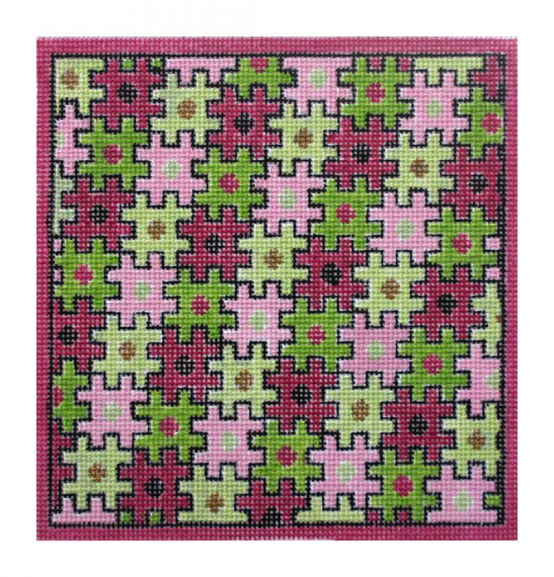 F3659 - Puzzle Folio, Pink & Green