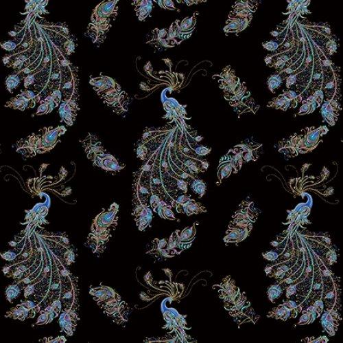 Peacock Flourish Flourish Allover - Black/Multi