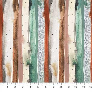 Desert Wilderness  Multi Stripe - Green