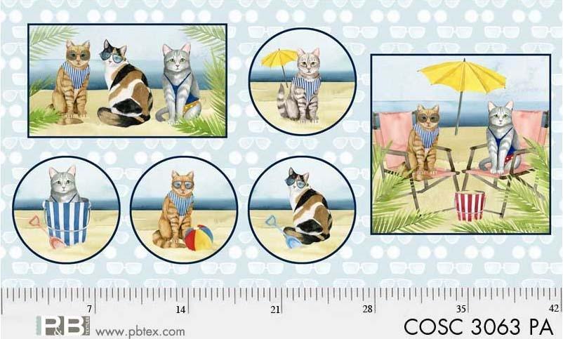 Panel - Coastal Kitties