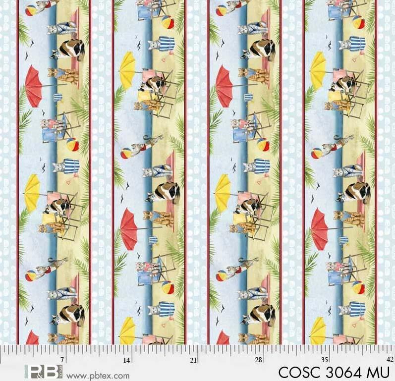Coastal Kitty Border Stripe - Multi