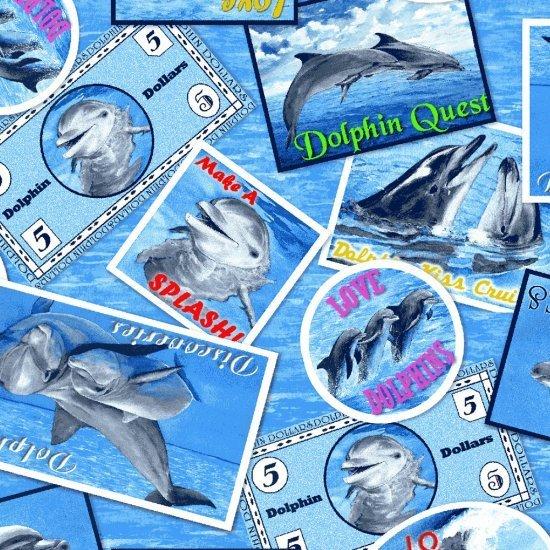 Make a Splash Dolphin Badges - Blue
