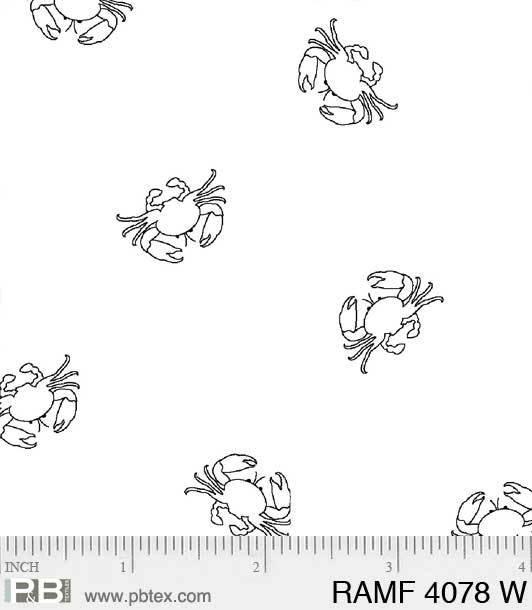 Ramblings Fun Crabs - White