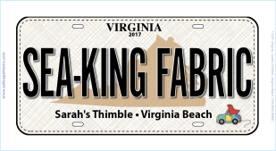 2017 Sea-King-Fabric License Plate