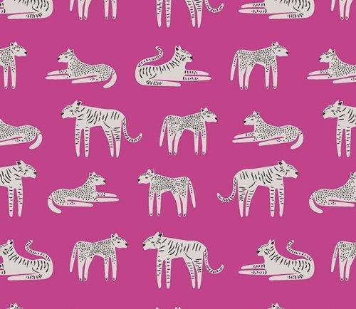 Selva Fierce Felines Fucsia - Pink
