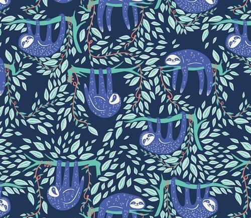 Selva Swaying Sloths Serene - Blue
