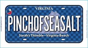 2019 License Plate Pinch of Salt