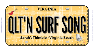 2018 Sunset Symphony License Plate