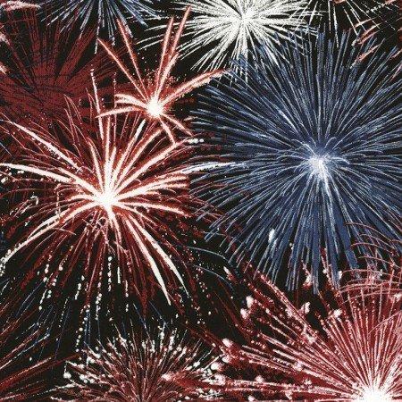 Timeless Treasures Fireworks - Black