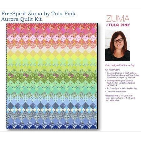 Aurora Quilt Kit -Featuring Zuma Fabrics by Tula Pink