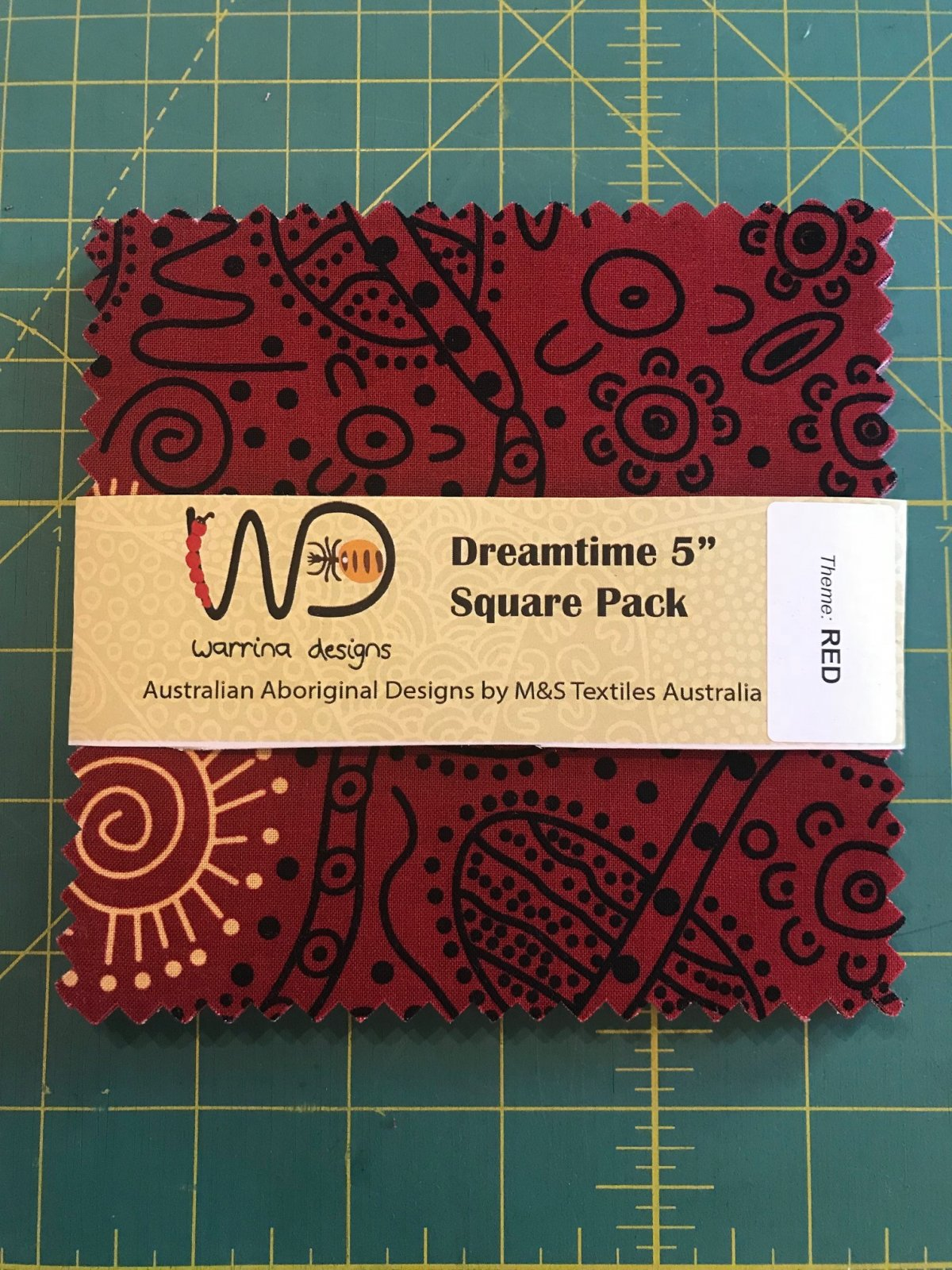 Dreamtime Square Pack 40 5 Squares Red