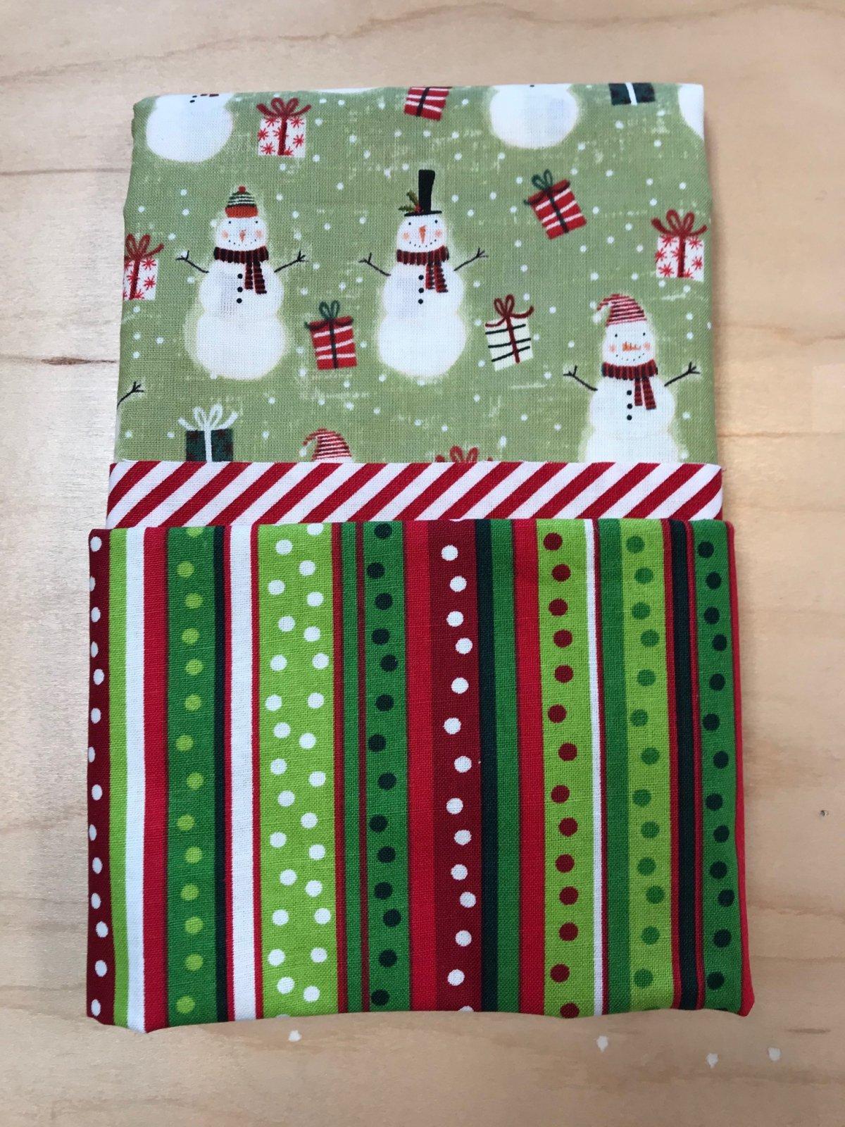 Pillowcase Kit Green Snowmen
