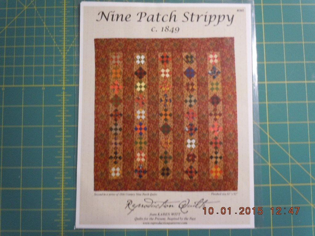 Nine Patch Strippy c. 1849 Pattern