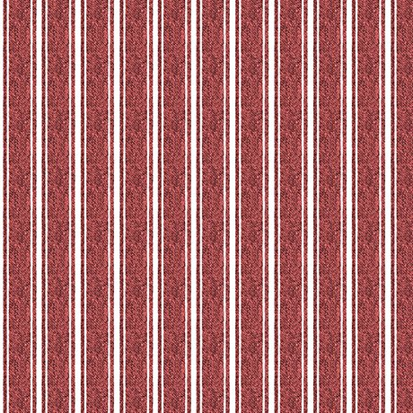 Fowl Play Textured Ticking Red