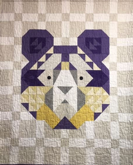 The Bear Quilt Kit - Purple