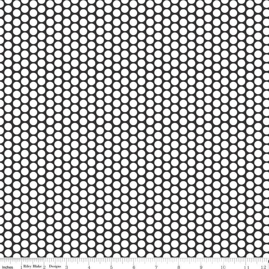 Honeycomb Dot on Black