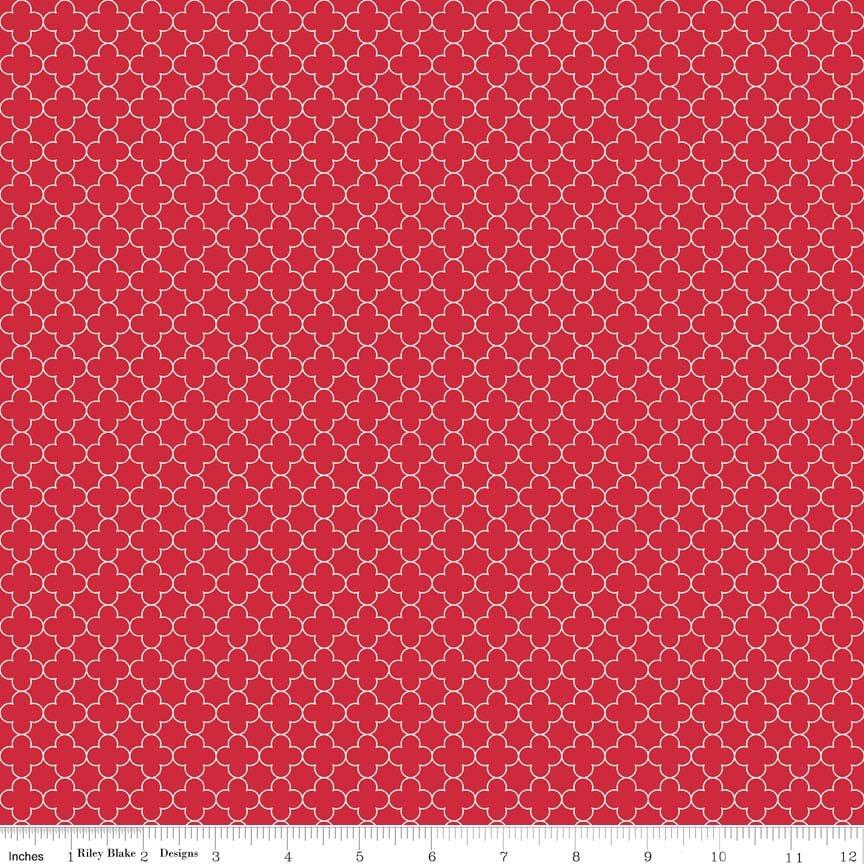 Quatrefoil Mini Red