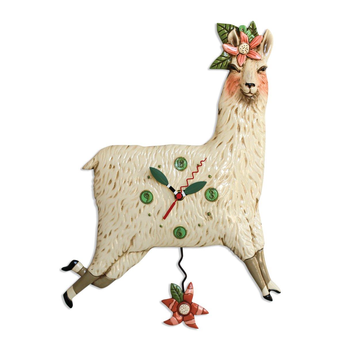 Allen Designs Llama Love Pendulum Clock