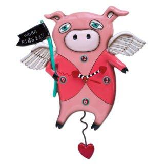 Allen Designs When Pigs Fly Clock