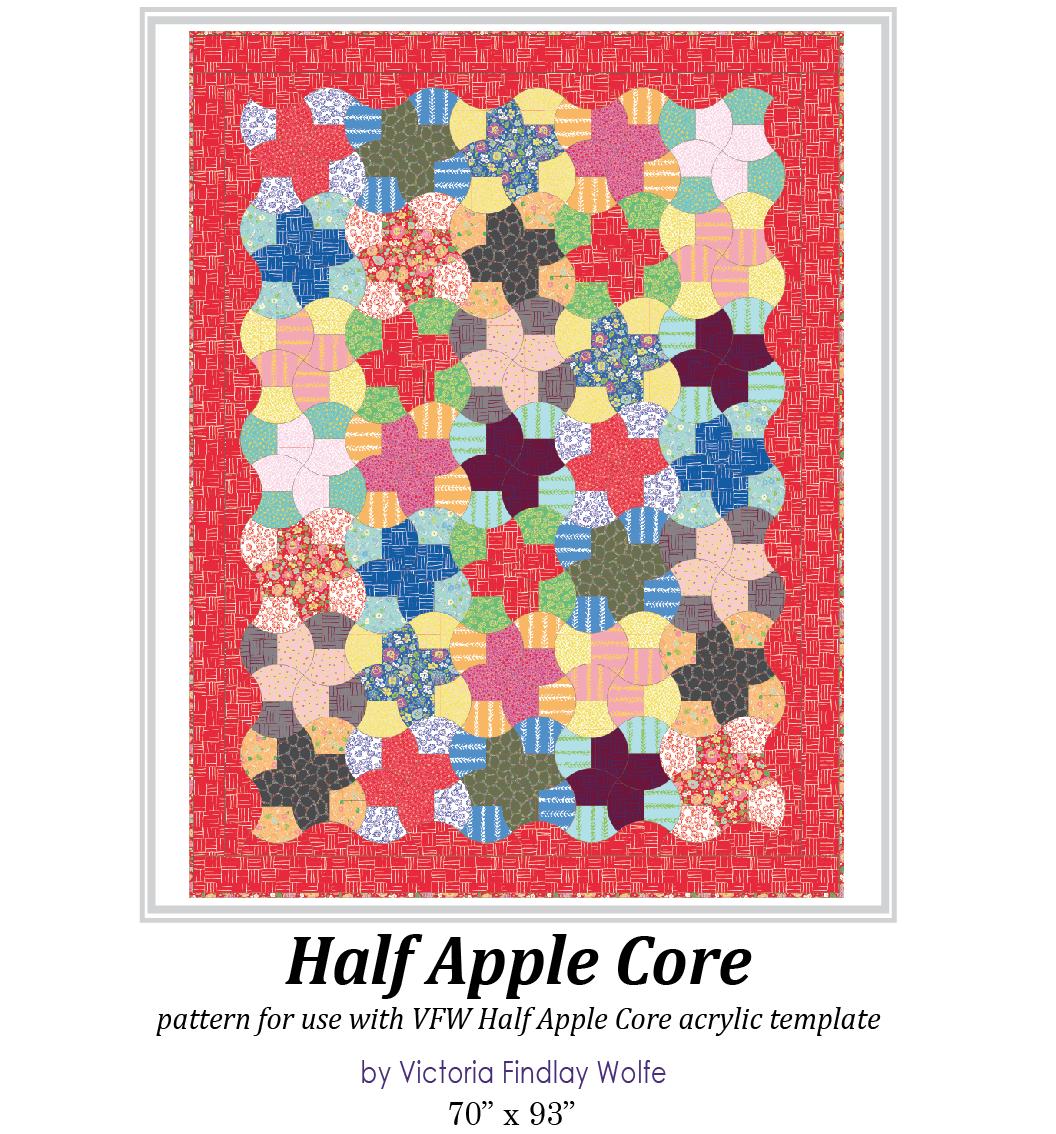Half Apple Core Pattern & Template
